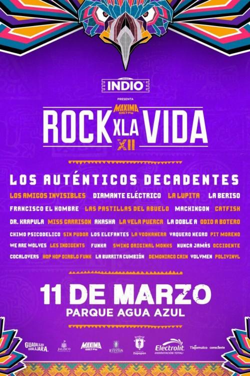 Rock x la vida 11 de marzo GDL