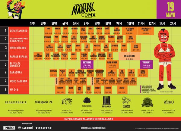 Horarios del Festival Marvin